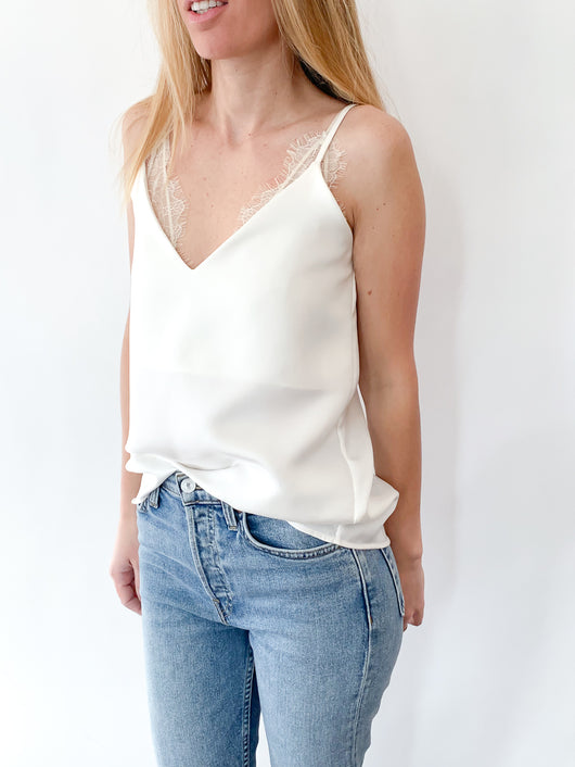 <h1>Silk Camisole in White</h1>