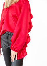 Ruffle Top in Red - Shop Elizabeth