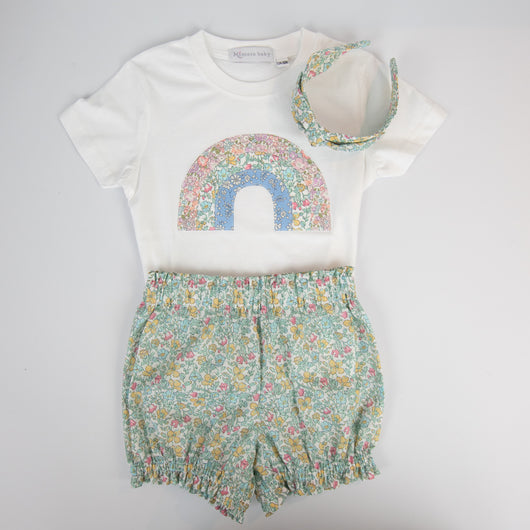 Rainbow t-shirt & bloomer set