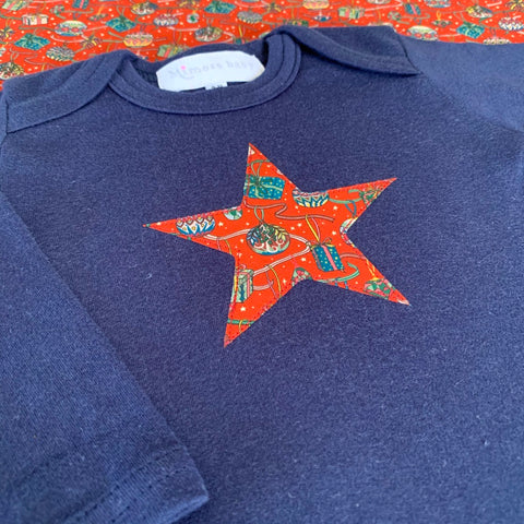 SALE: Navy long sleeve star t-shirt