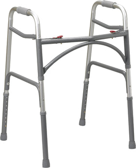 Heavy Duty Two Button Folding Walker