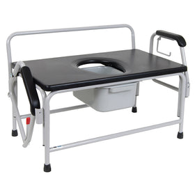 Extra-Large Bariatric Drop-Arm Commode