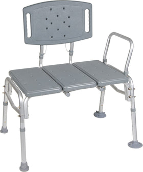 Bariatric Transfer Bench with Removable Backrest