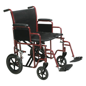 Extra Wide Transport Wheelchair Rental - 22in Wide