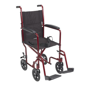 Lightweight Transport Wheelchair Rental - 17in Width