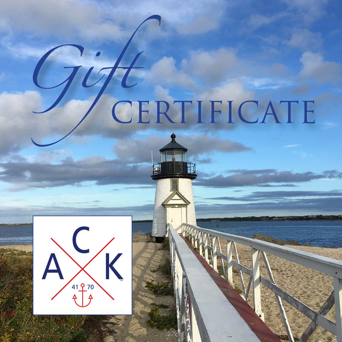 ACK 4170™ Gift Certificate