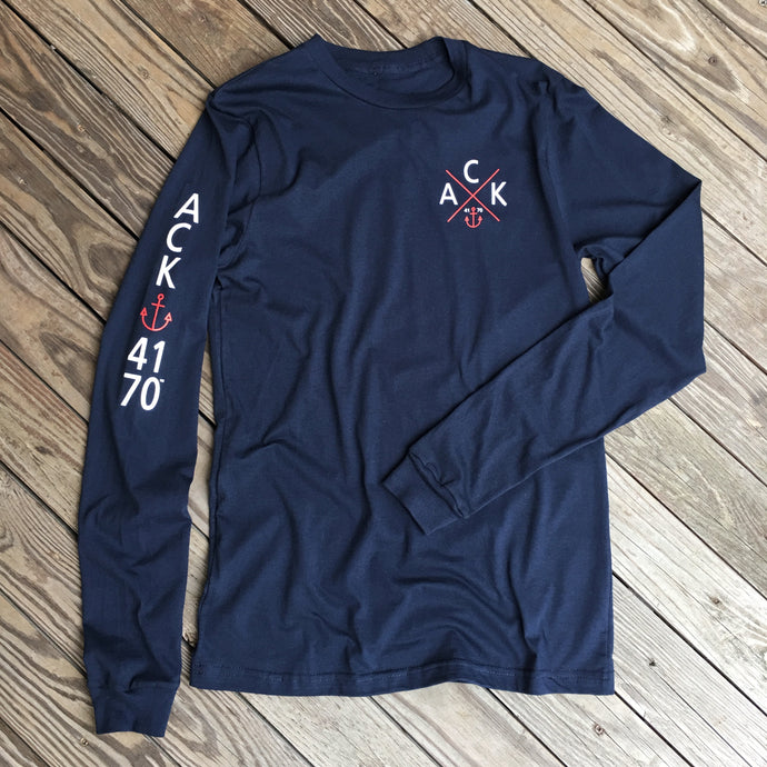 ACK 4170™ Unisex Navy Long Sleeve Shirt