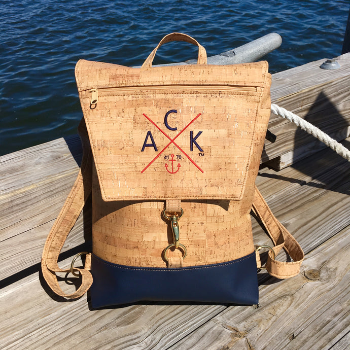 ACK 4170™ Embroidered Cork Back Pack (Navy)