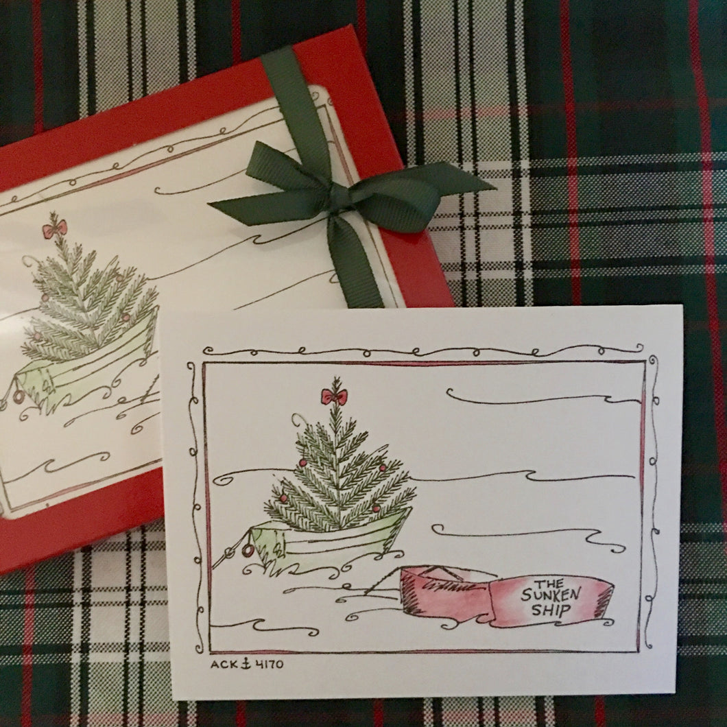 Sunken Ship Christmas Card Set