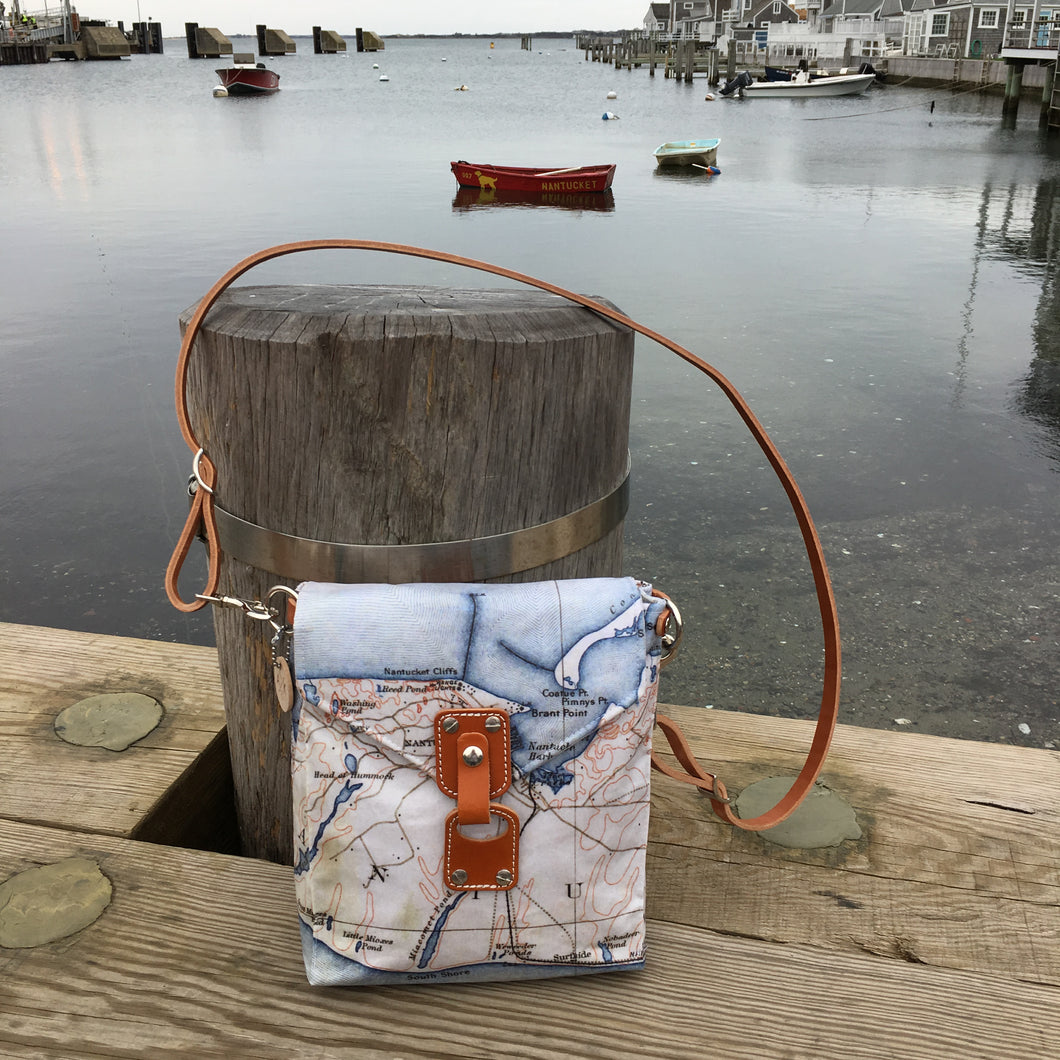 Nantucket Map Crossbody