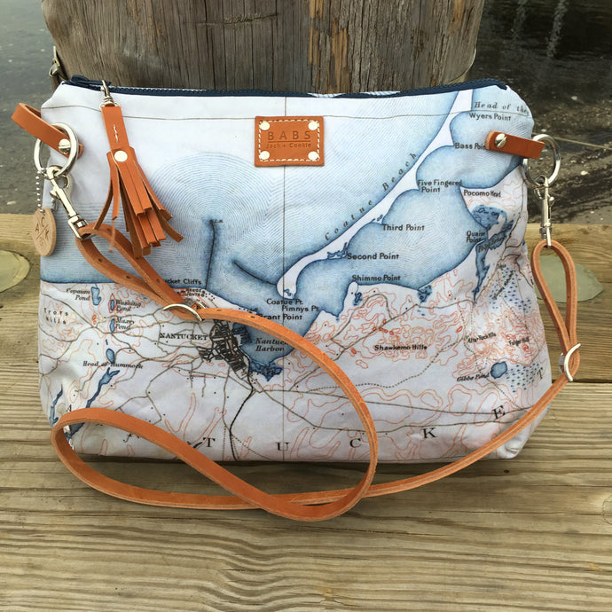 Nantucket Map Commuter Bag