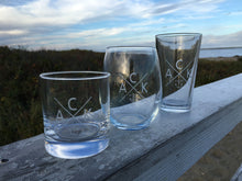 Etched Wine Glass Set of 2