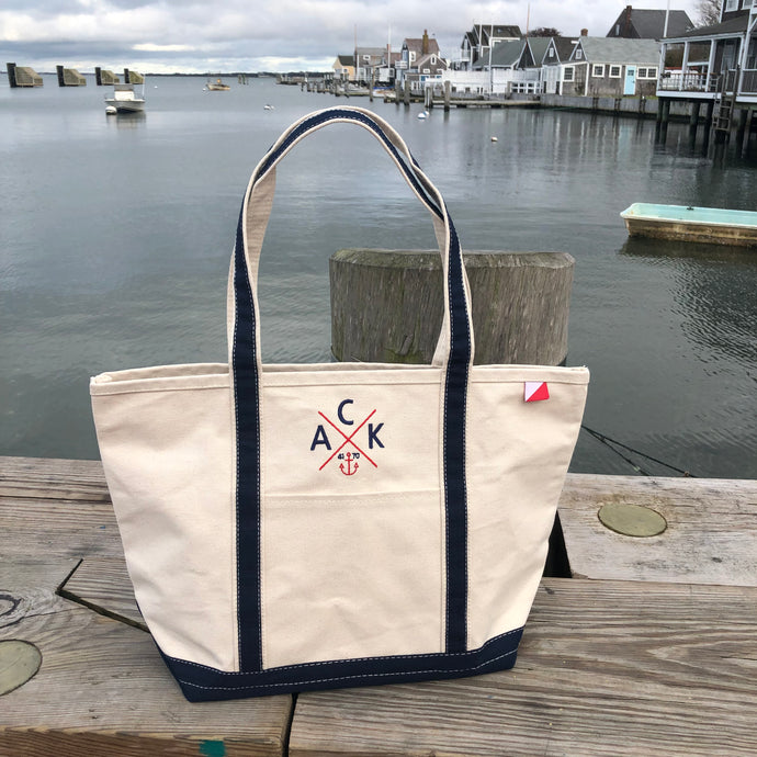 ACK 4170™ Medium Canvas Tote Navy