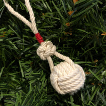 Monkey Fist Ornament with Red Whipping
