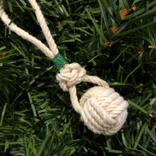 Monkey Fist Ornament with Green Whipping