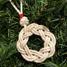 Rope Sailor's Wreath with Red Whipping