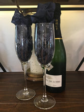 Etched Champagne Flute Set of 2