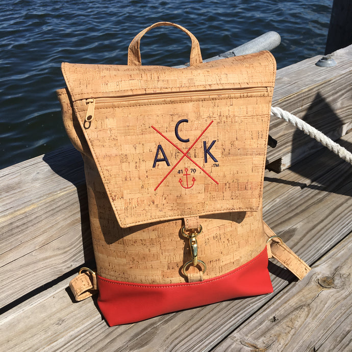 ACK 4170™ Embroidered Cork Back Pack (Red)