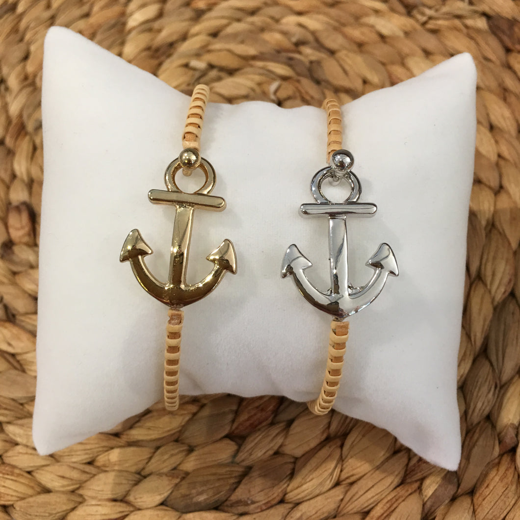 Nantucket Woven Anchor Bracelet