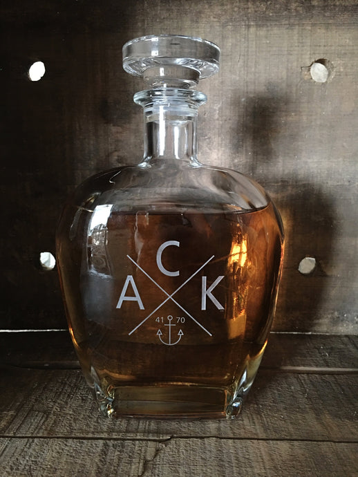 Etched ACK 4170™ Whiskey Decanter