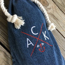 ACK 4170™ Embroidered Denim Bottle Bag