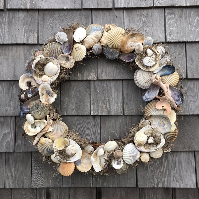 Nantucket Seashell Wreath Centerpiece