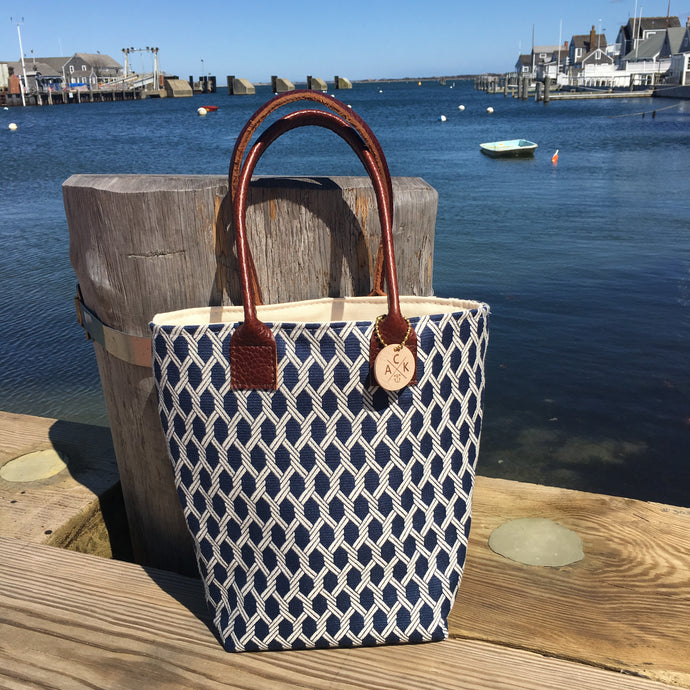 Navy Nauti Rope Mini Tote