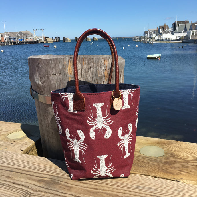 Wine Lobster Mini Tote