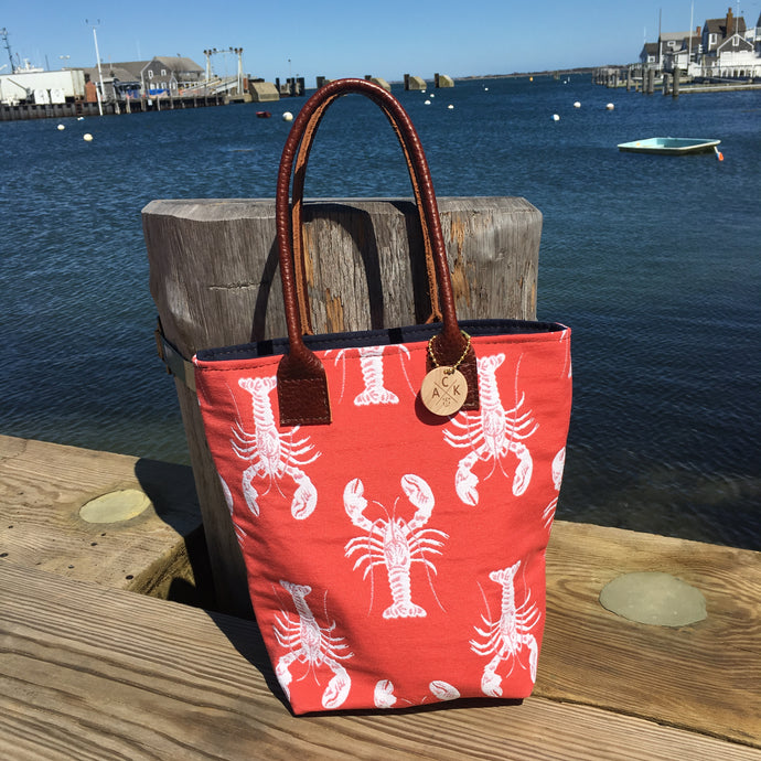 Coral Lobster Mini Tote
