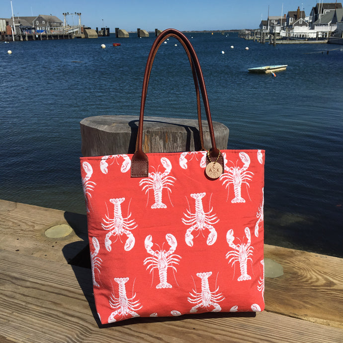 Coral Lobster Large Tote