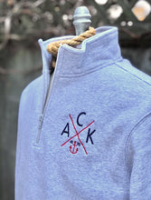 ACK 4170™ Grey Embroidered Unisex 1/4 Zip