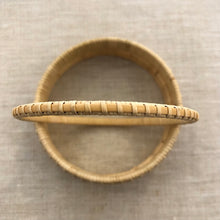 Nantucket Basket Woven Thin Natural Bangle Bracelet II