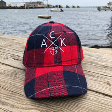 ACK 4170 Flannel Cap in Red/Navy