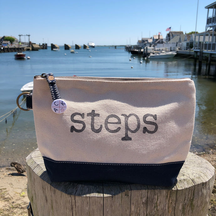 Steps Canvas Pouch