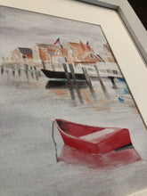 Old North Wharf and The Sunken Ship Framed Watercolor Print