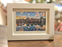 """Sunrise on Old North Wharf"" Small Framed Print"