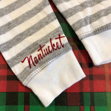 Nantucket Christmas Dory Pajama Set (Grey & White Stripe)