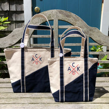 Medium Navy Contemporary Classic Boat Tote