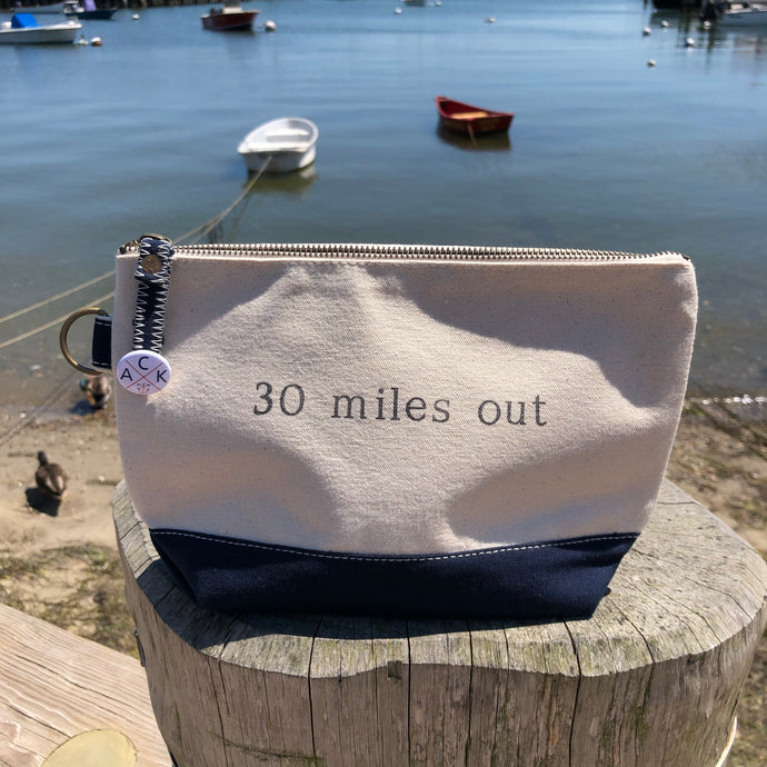 30 Miles Out Canvas Pouch