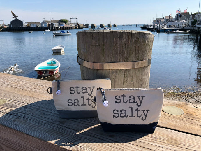 Stay Salty Canvas Pouch