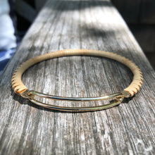 Gold Bar Nantucket Woven Bracelet