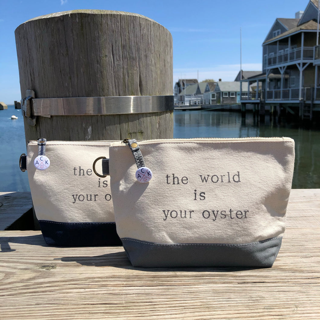 The World is Your Oyster Canvas Pouch