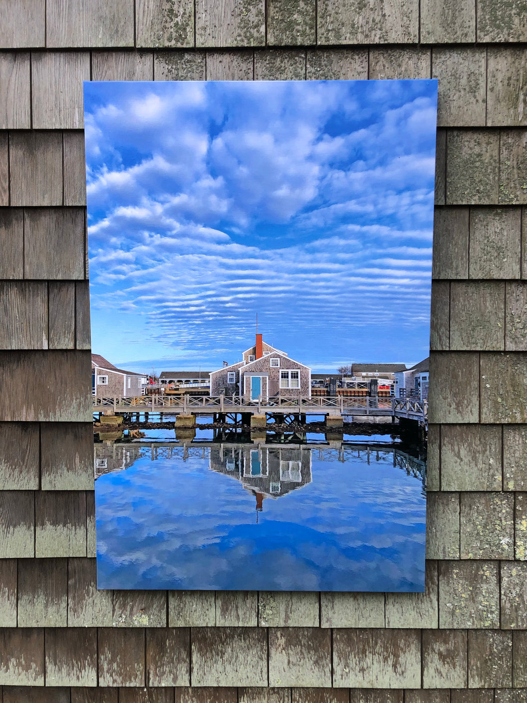 """Old North Wharf Cottage Reflections"