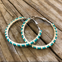 "Nantucket Basket Woven Colored 1.5"" Earrings"
