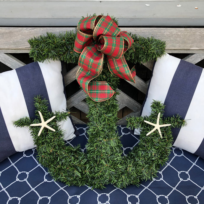 Anchor Evergreen Wreath