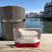 On Island Time Canvas Pouch