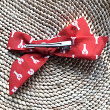 Coral Lobster Bow Hair Clip