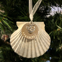 Nantucket Scallop Shell Ornament