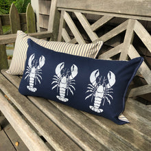 Navy Lobster Canvas Bolster