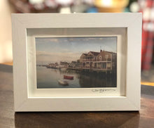 """Easy Street Boat Basin"" Small Framed Print"